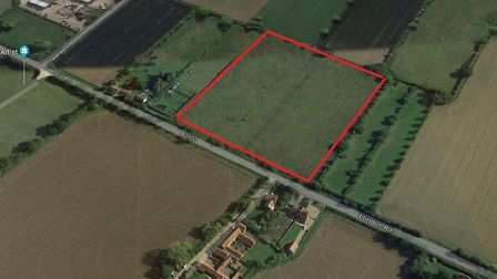 The proposed location of a permanent traveller site on London Road in Suton. Photo: Google