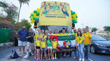 The promotion parade in Dubai. Picture: United Arab Emirates Canaries' supporters' club