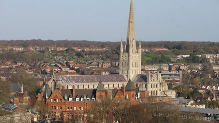 Chris Skipper proposed to his girlfriend, Kim Paul, in the bell tower of Norwich Cathedral. Picture:
