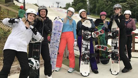 Women are being encouraged to sign up for a women only snowboarding event at Norfolk's only dry ski