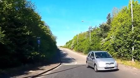 Ray Valentine was joining the A11 when a car came in the opposite direction. Picture: Ray Valentine