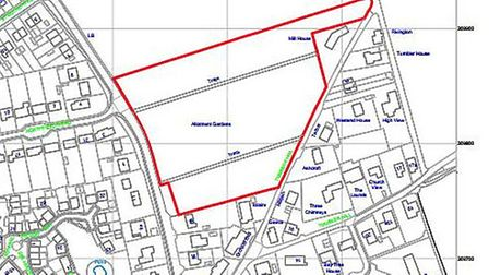The location plan for the development on New Sporle Road. Image: Swaffham Town Council