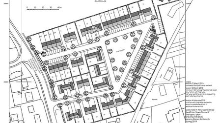 The site plan for the 51 new homes in Days Field. Image: Swaffham Town Council
