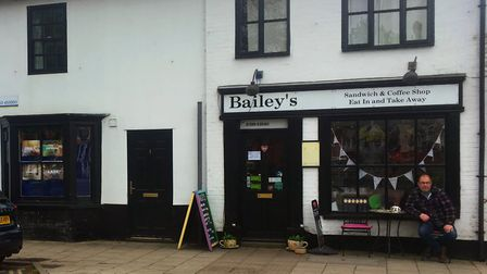Outside seating outside Bailey's cafe on Church Street, Attleborough. Photo: Bethany Wales