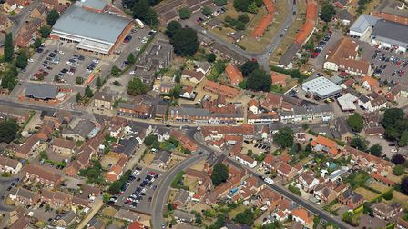 Aerial view of Attleborough. Pictture: Mike Page