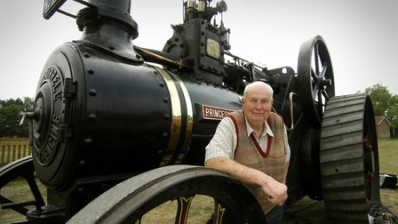 Richard Parrott with his 1909 Burrell Traction Engine 'Princess Royal'. Picture: Angela Sharpe