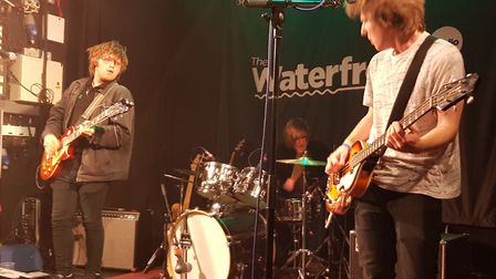 The Renadeans headlining Unsigned Live at The Waterfront. Picture: Wayne Savage