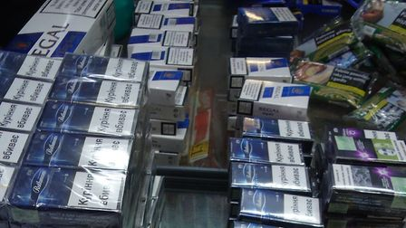 Illegal tobacco was seized from Magdalen Road Convenience Store. Pic: Norfolk Trading Standards.