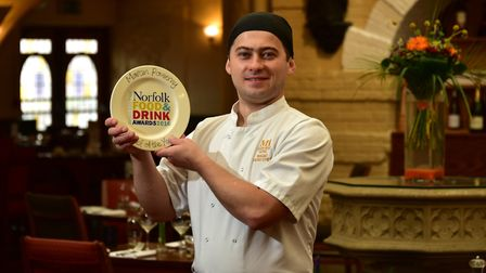 Marcin Pomierny from The Maids Head Hotel has reached the National Chef of the Year competition semi
