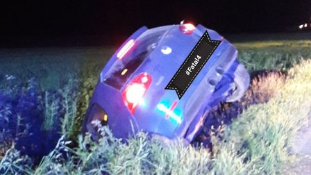 A drink driver crashed into a ditch. Picture: Breckland Police