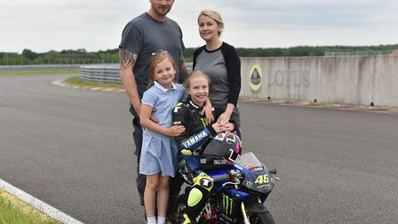 Izzy Carter broke her leg whilst competing in a mini Moto competition and is now back on the bike an
