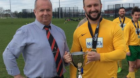 Ben Casey, left, has stepped down after 10 years as secretary of the Norwich Sunday League Picture: