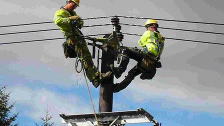 Engineers are working to fix a power cut affecting nearly 300 homes in South Norfolk. Picture: UK Po