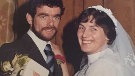Mike and Maureen met and married in less than six months in 1978 Picture: FAMILY COLLECTION