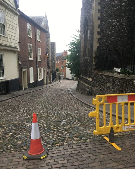Filming on Elm Hill for the Netflix film Jingle Jangle has finished and the street is already clean