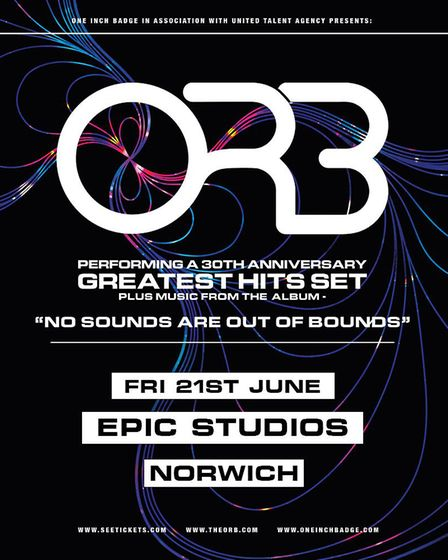 The Orb's Norwich tour poster. Picture: Supplied by Epic Studios
