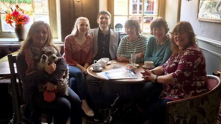 The Wymondham ME group at their latest meeting, held at the White Hart, Wymondham. Photo: Submitted