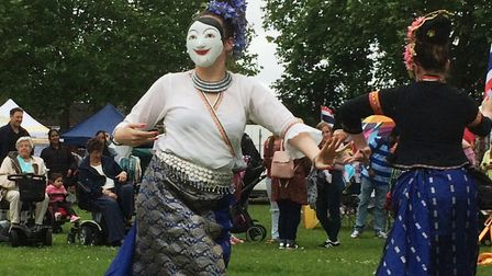 A performer at the Magic of Thailand Festival, Eaton Park, Norwich. Picture: Staff
