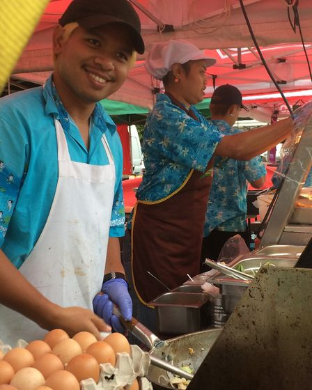 A food vendor at the Magic of Thailand Festival, in Eaton park over the weekend. Pictrue: Staff