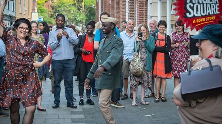 The Common Lot performing Anglia Square: A Love Story. Picture: ROBERT EKE