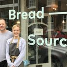 Owner of Bread Source, Steve Winter, and General Manager, Isabel Brentnall, outside their Bread Sour