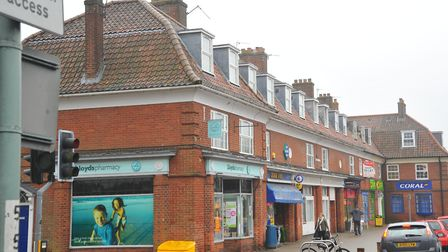 The parade of shops on Colman Road. Photo: Steve Adams