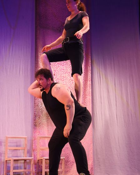 The rehearsals for Lost in Translation's show called Hotel Paradiso in the Chapefield Summer Circus