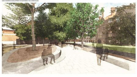 Norwich School had submitted plans for new facilities and landscaping at its site in the Cathedral's