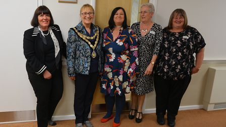 New unit opened by Mayor Jill Skinner, with staff, at Paddocks care home in Swaffham. Picture: Paddo
