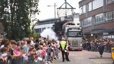 The Lord Mayor's Procession winding through the streets of Norwich. Picture: Ian Burt