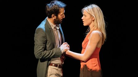 Naeem Hayat, as Kamal Abdic, and Kirsty Oswald, as Megan Hipwell, in The Girl on a Train. Picture: M