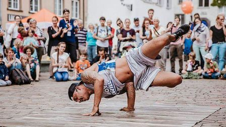 Covent Garden performer William Sanchez will kick off Head Out Not Home 2019 in Norwich Credit: Dani