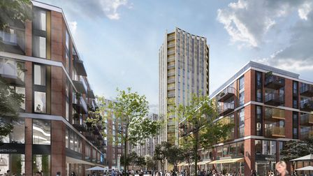 Plans for a 20-storey tower in Anglia Square. Photo: Weston Homes