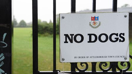 Attleborough Recreation Ground, where dogs are not allowed, which has a problem with dog walkers not