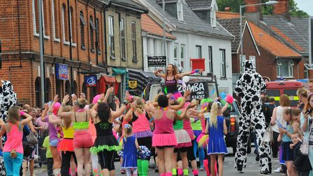 Attleborough Carnival procession making its way through the town. Photo: Steve Adams