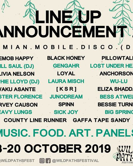 Wild Paths Festival announce the second wave of acts. Picture: Supplied by Wild Paths