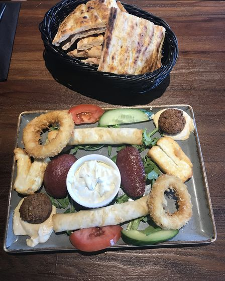 Mix hot meze platter at Mr Mangal on Dereham Road in Norwich. Picture Jessica Long.