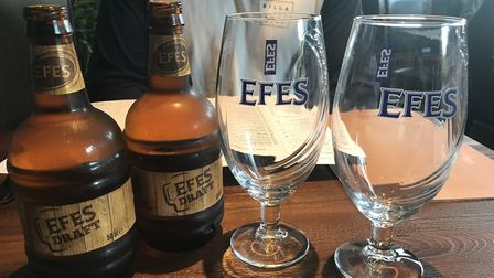 Efes pilsen at Mr Mangal on Dereham Road in Norwich. Picture Jessica Long.
