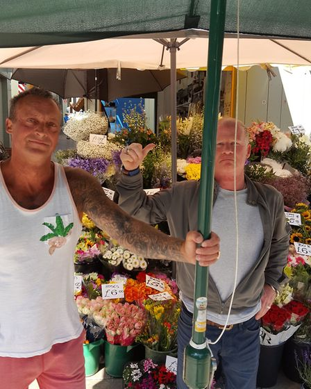 Kevin Hose (left) and Alexander Pond (right). Norwich Market Photo: Submit