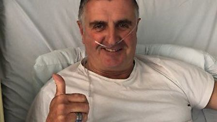 Martin Donnelly is recovering after breaking his leg. Picture: Jonathan Lewis