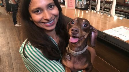 Anushka Fernando brought her dachshund pop-up cafe to Norwich for the first time. Picture: Neil Dids