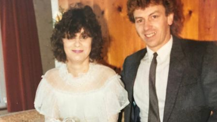 Gaynor and Robert married on January 4, 1986, after a whirlwind romance Picture: FAMILY COLLECTION