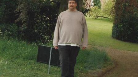 Mark Fairhead before losing 10 stone in 2006. Photo: Submitted