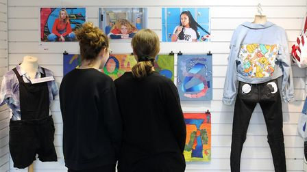 Students from Walyand Academy displayed artwork in a public gallery. Picture: Ruth Stanley