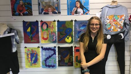 Layney Hurford with her artwork. Picture: Ruth Stanley
