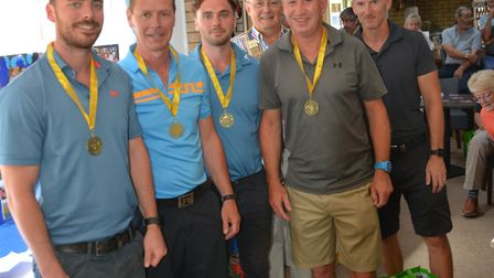Temperatures were sweltering as the Swaffham Rotary Charity Golf Day was held. Picture: Swaffham Rot