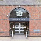 Norwich Magistrates Court heard Julie Cutting, 52, kicked a dog several times. PICTURE: Jamie Honeyw