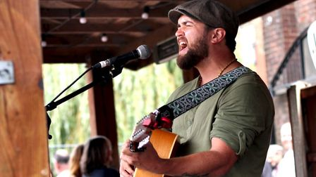 Tom Malachowski performing at The Waterfront Sessions. Picture: Elliot Tam