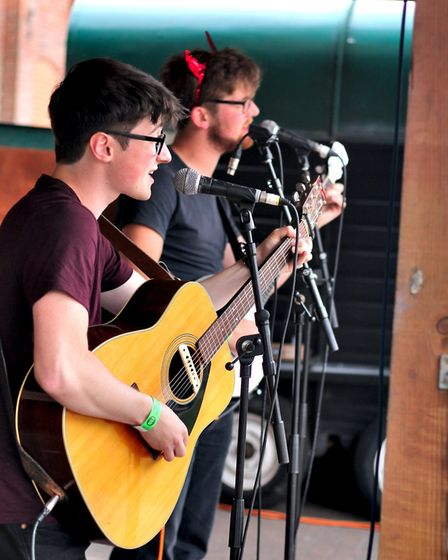 The Revelation Brothers performing at The Waterfront Sessions. Picture: Elliot Tam