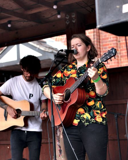 Hot Raisin performing at The Waterfront Sessions. Picture: Elliot Tam